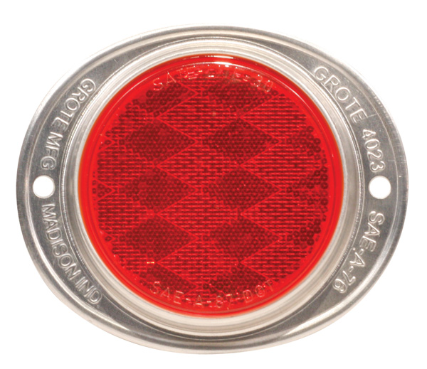 Grote Industries - 40192 – Steel Two-Hole Mounting Reflector, Red