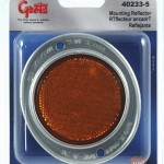 Aluminum Two-Hole Mounting Reflector, Yellow, Retail Pack