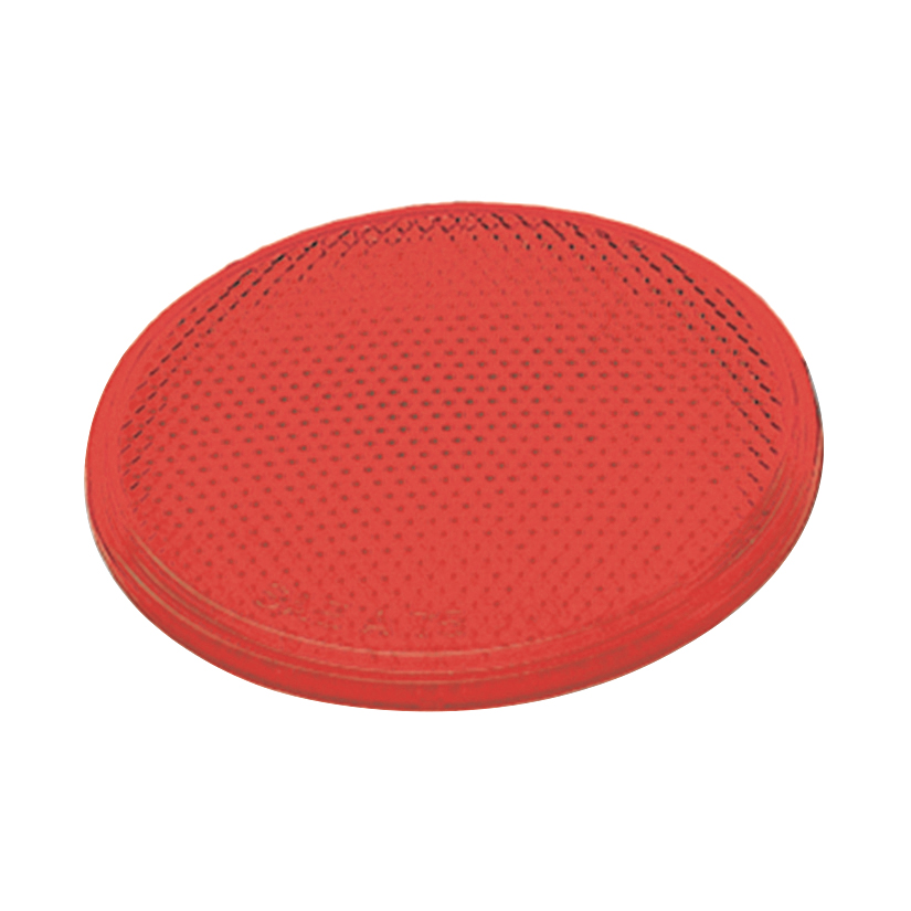 Grote Industries - 41002 – Round Stick-On Reflector, 2″ Red