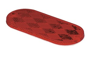 41032 – Oval Reflector, Red