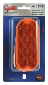 41033-5 - Reflector ovalado, amarillo, paquete de dos, paquete al por menor