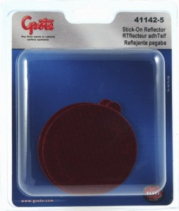 41142-5 – Stick-On Tape Reflector, Red, Retail Pack