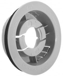 """Snap-In Mounting Flange For 2 1/2"""" Round Lights"""