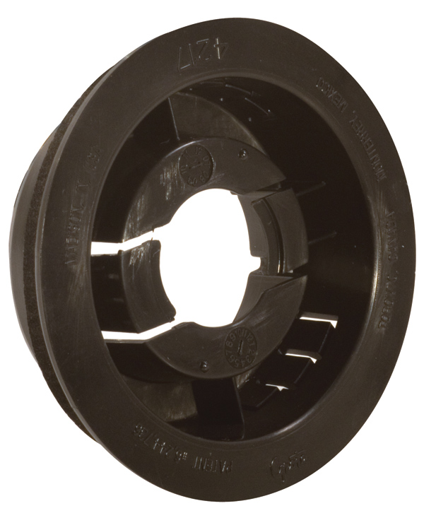 42172 – Snap-in Mounting Flange for 2 1/2″ Round Lamps, Black