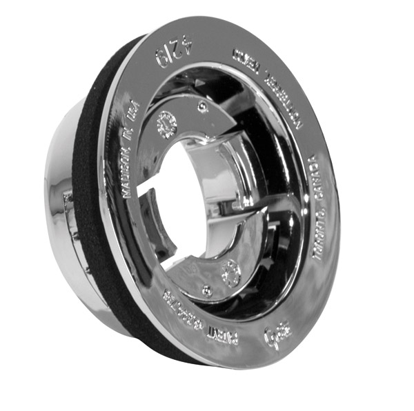 42193 – Snap-In Theft-Resistant Mounting Flange for 2″ Round Lamps, Chrome