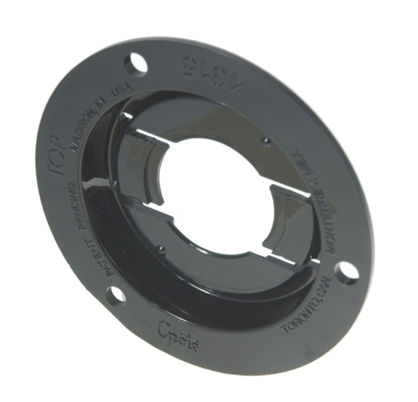 43152 – Theft-Resistant Mounting Flange For 2″ Round Lights, Black