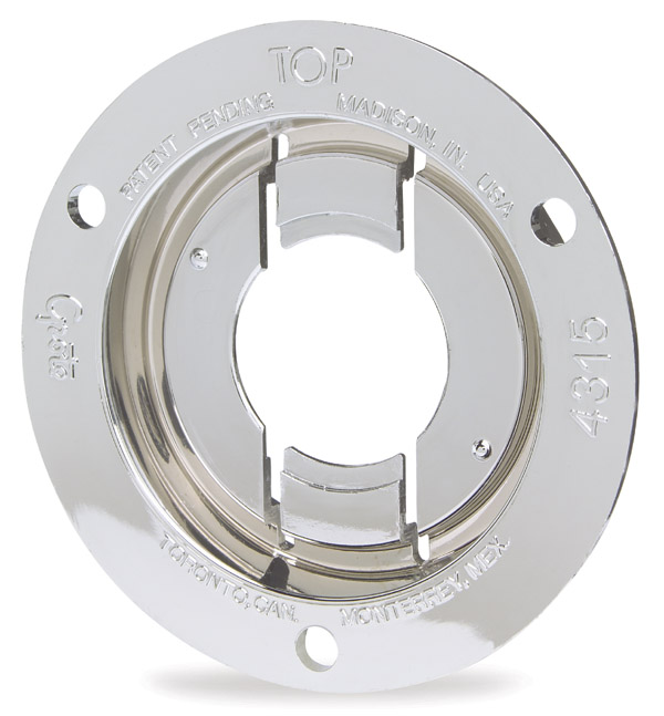 Grote Industries - 43153 – Theft-Resistant Mounting Flange For 2″ Round Lights, Chrome