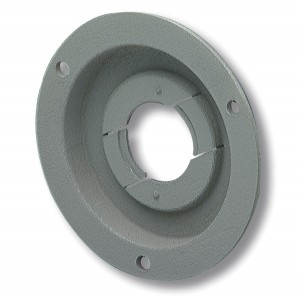 43160 – Theft-Resistant Mounting Flange & Pigtail Retention Cap For 2 1/2″ Round Lights, Mounting Flange, Gray