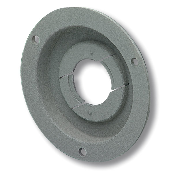 Grote Industries - 43160 – Theft-Resistant Mounting Flange & Pigtail Retention Cap For 2 1/2″ Round Lights, Mounting Flange, Gray