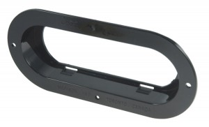 43222 – Theft-Resistant Mounting Flange For 6″ Oval Lights, Black