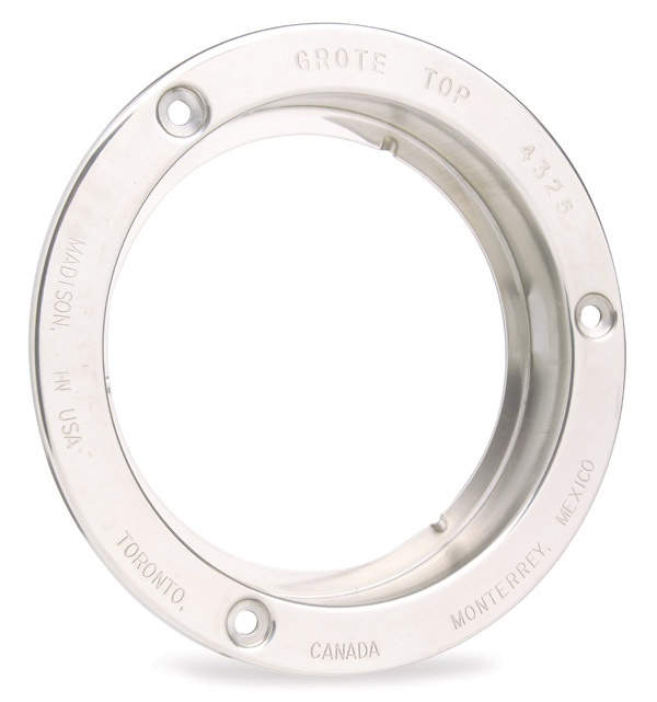 Grote Industries - 43253 – Theft-Resistant Flange For 4″ Round Lights, Steel