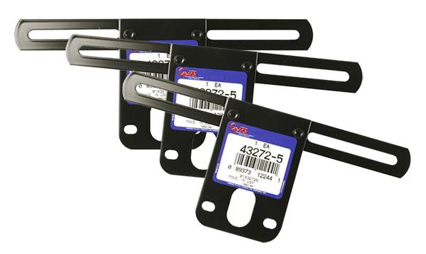 43272-3 – License Plate Bracket, Black, Bulk Pack