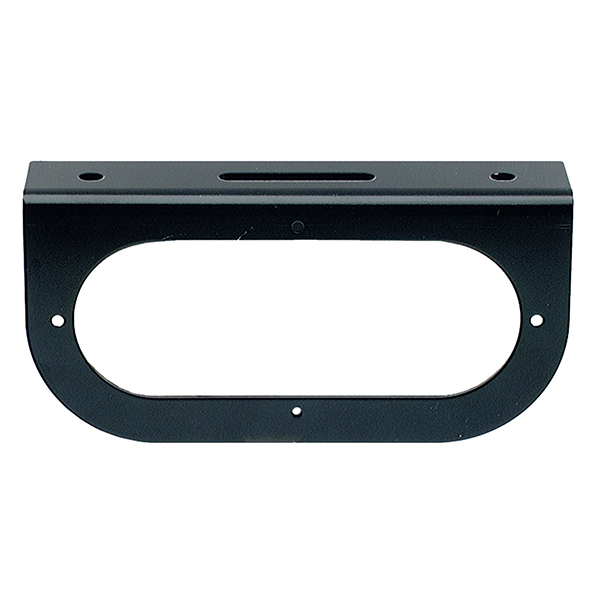 Grote Industries - 43362 – Mounting Bracket For 6″ Oval Lights, 90° Angle Bracket, Black