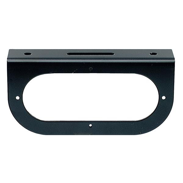 43362 – Mounting Bracket For 6″ Oval Lights, 90° Angle Bracket, Black