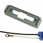 Mounting Bracket For Large Rectangular Lights, Gray Kit (43780 + 66981)