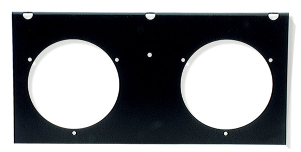 43642 – 2-Light Mounting Module For 4″ Round Lights, Black