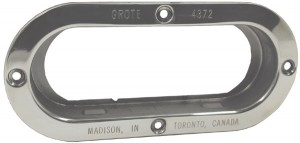 43723 – Theft-Resistant Mounting Flange For 6″ Oval Lights, Steel