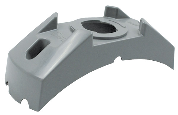 Grote Industries - 43760 – 4 5/8″ Corner Radius Bracket For 2″ & 2 1/2″ Round Lights, Gray