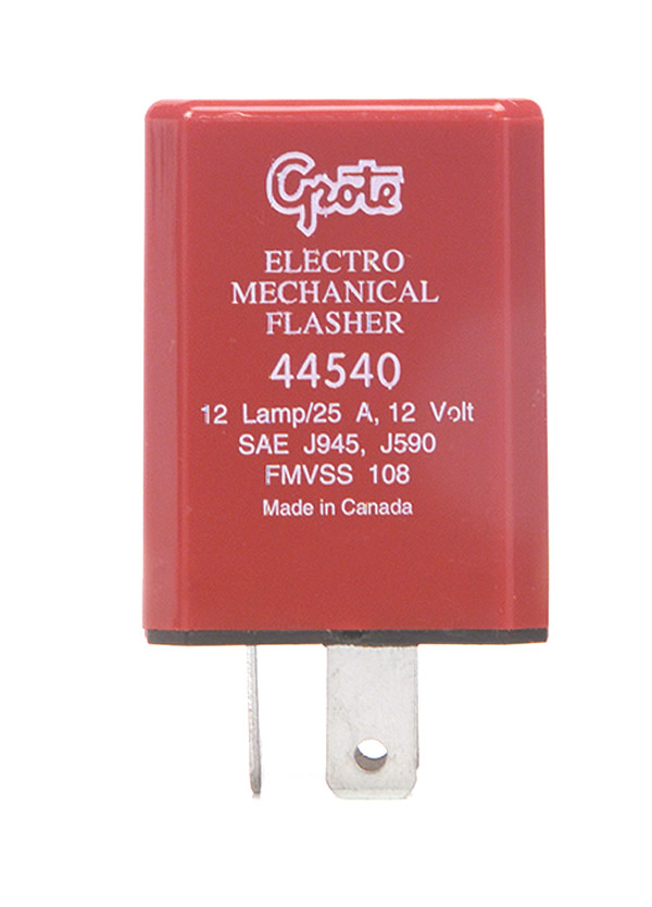Grote Industries - 44540 – 3 Pin Flasher, 12 Light Electromechanical (Pilot)