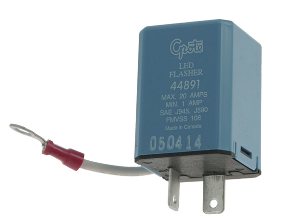 44891 – 2 Pin Flasher, Variable-Load Electronic LED