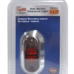2 1/2 oval led clearance marker light bezel red retail