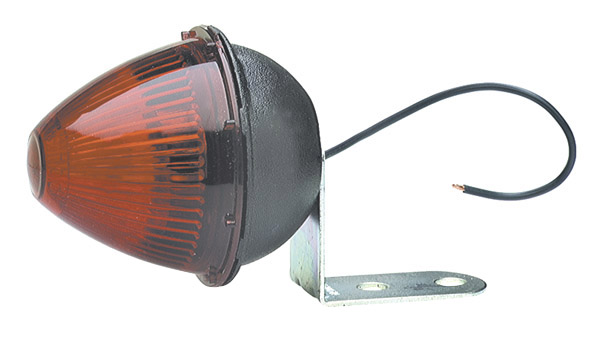 Grote Industries - 45022 – Beehive Clearance Marker Light with Fixed-Angle Mounting Bracket, Red