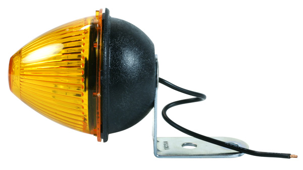 45023 – Beehive Clearance Marker Light with Fixed-Angle Mounting Bracket, Yellow