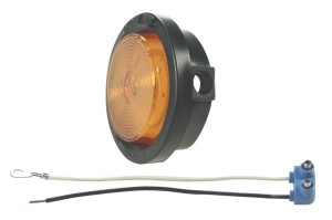 45043 – 2 1/2″ Clearance Marker Light, Optic Lens, Yellow Kit (45813 + 91400 + 67050), 12V