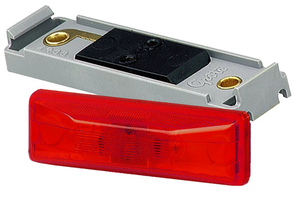 Grote Industries - 45092 – Clearance Marker Light, Red Kit (46742 + 43850)