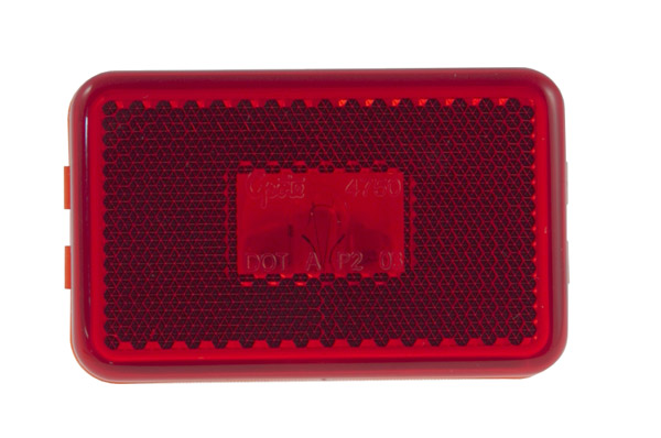 45232-3 – Clearance Marker Lights w/ Built-In Reflector, Red, Bulk Pack
