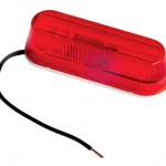 thin line single bulb clearance marker light red