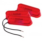 thin line single bulb clearance marker light red bulk
