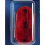 two bulb oval pigtail type clearance marker light optic red retail