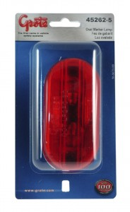 45262-5 – Two-Bulb Oval Pigtail-Type Clearance Marker Light, Optic Lens, Red, Retail Pack