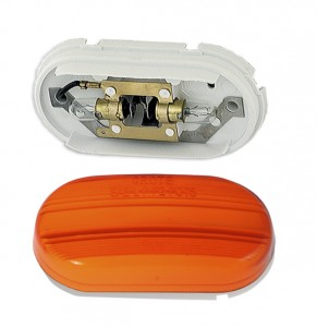 45263 – Two-Bulb Oval Pigtail-Type Clearance Marker Light, Optic Lens, Yellow