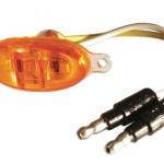 Yellow LED Clearance Marker Light Without Chrome Bezel.
