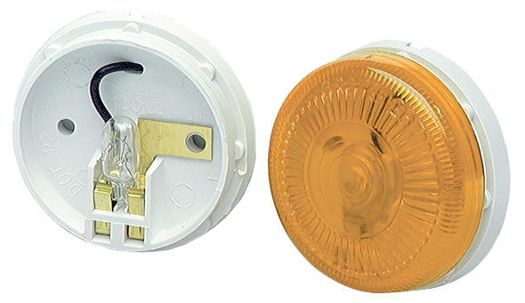 45413 – 2 1/2″ Surface-Mount Single-Bulb Clearance Marker Light, Yellow