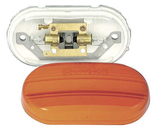 Grote Industries - 45433 – Two-Bulb No-Splice Clearance Marker Light, Yellow