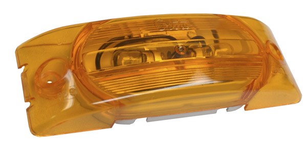 45463 – Two-Bulb Turtleback® Clearance Marker Light, Optic Lens, Yellow