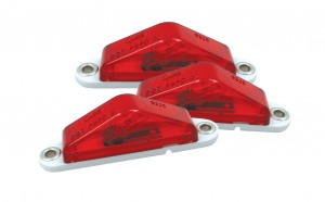 45512-3 – Clearance Marker Lights with Peak Lens, Blunt Cut, Red, Bulk Pack