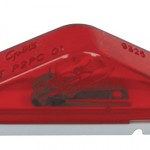 clearance marker light peak lens red blunt cut