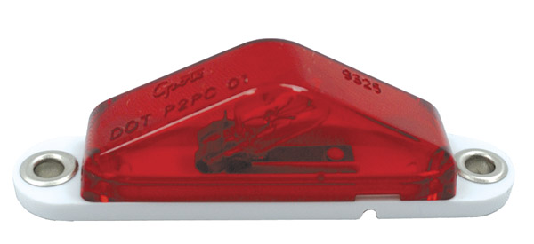 Grote Industries - 45512 – Clearance Marker Light with Peak Lens, Blunt Cut, Red