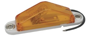 45513 – Clearance Marker Light with Peak Lens, Blunt Cut, Yellow