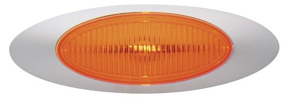 45573 – M1 Series Clearance Marker Light, .180 Molded Bullet w/ Bezel, Yellow