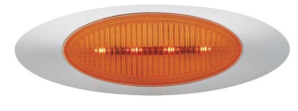 45603 – M1 Series LED Clearance Marker Light, Metripack® Plug w/ Bezel, Yellow