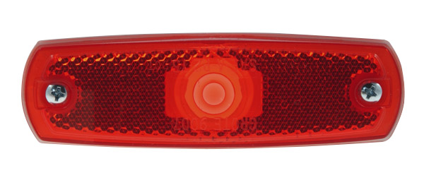 Grote Industries - 45712-3 – Low-Profile Clearance Marker Light, Built-in Reflector, w/out Bezel, Red, Bulk Pack