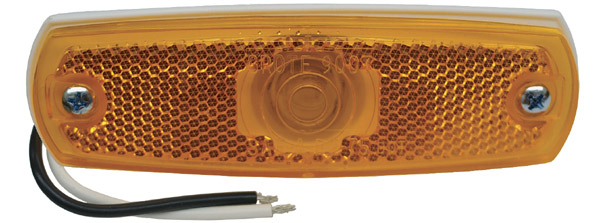 Grote Industries - 45713-3 – Low-Profile Clearance Marker Light, Built-in Reflector, w/out Bezel, Yellow, Bulk Pack