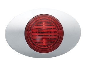 45772 – M3 Series LED Clearance Marker Light, .180 Molded Bullet w/ Bezel, Red