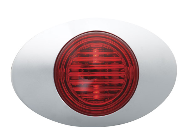 Grote Industries - 45772 – M3 Series LED Clearance Marker Light, .180 Molded Bullet w/ Bezel, Red