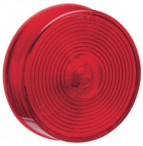 45812 – 2 1/2″ Clearance Marker Light, Optic Lens, Red, 12V